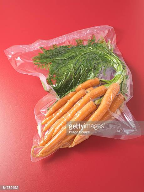Vacuum packed carrots