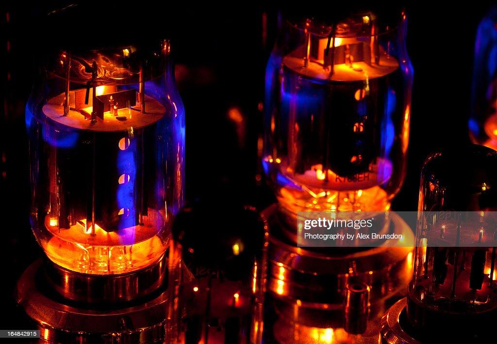 KT88 Vacuum Tube Close Up : Stock Photo