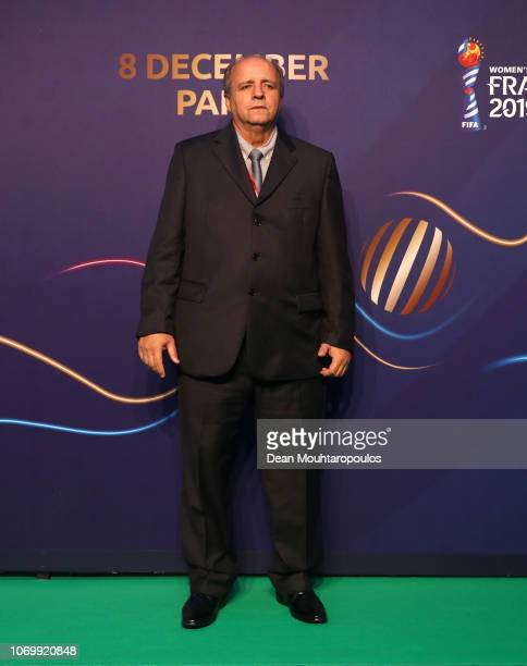 Vadao coach of Brazil arrives at the FIFA Women's World Cup France 2019 Draw at La Seine Musicale on December 8 2018 in Paris France