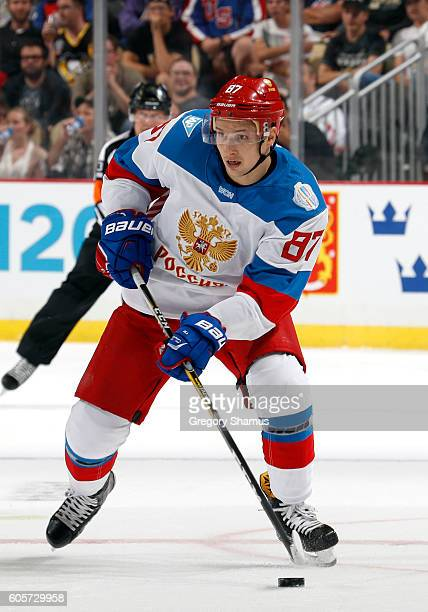 Vadim Shipachev of Team Russia skates against the Team Canada at Consol Energy Center on September 14 2016 in Pittsburgh Pennsylvania