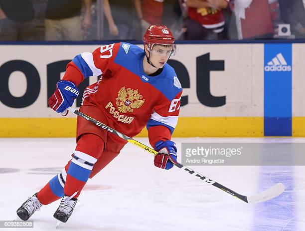 Vadim Shipachev of Team Russia warms up prior to a game against Team Sweden during the World Cup of Hockey 2016 at Air Canada Centre on September 18...