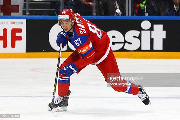 Vadim Shipachyov of Russia skates against Norway at Ice Palace during the IIHF World Championship on May 16 2016 in Moscow Russia Russia defeated...