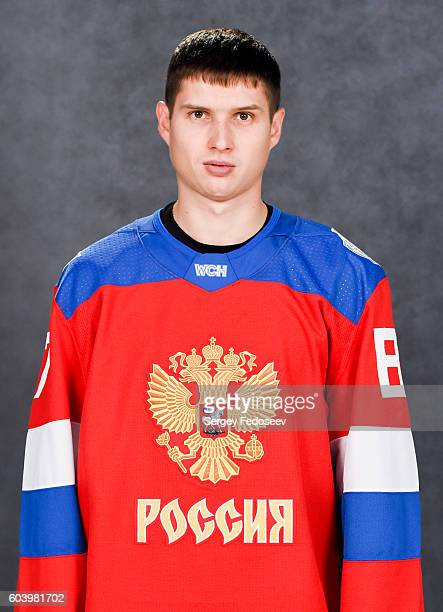 Vadim Shipachyov of Team Russia poses for his official headshot for the 2016 World Cup of Hockey Tournament on September 5 2016 at the SP Yubileyny...