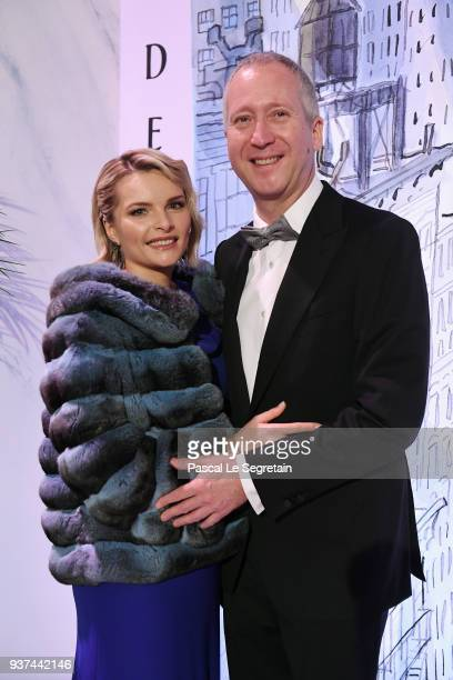 Vadim Vasilyev and his wife arrive at the Rose Ball 2018 To Benefit The Princess Grace Foundation at Sporting MonteCarlo on March 24 2018 in...