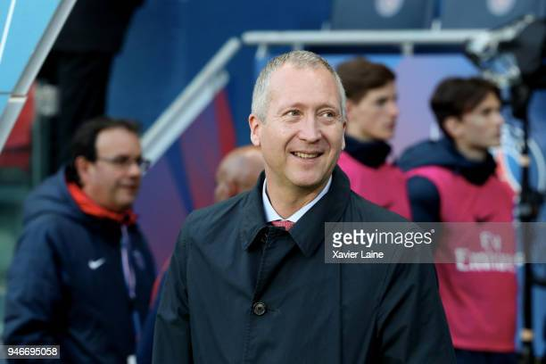 Vadim Vasilyev of AS Monaco attends the Ligue 1 match between Paris Saint Germain and AS Monaco at Parc des Princes on April 15 2018 in Paris