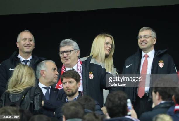Vadim Vasilyev President of AS Monaco Dmitri Rybolovlev and his girlfriends attends the French League Cup Final match between Paris SaintGermain and...