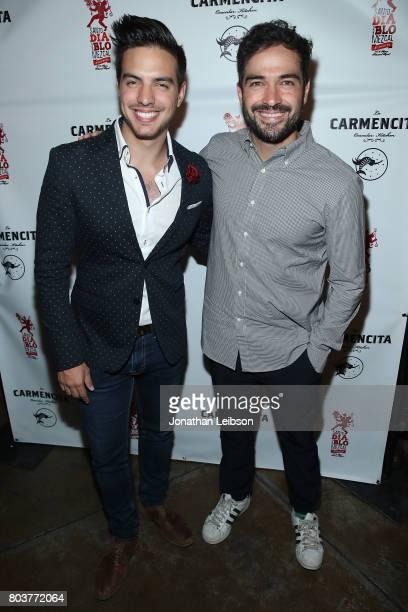 Vadir Derbez and Alfonso Herrera attend the La Carmencita Celebrates Its Grand Opening on June 29 2017 in Los Angeles California