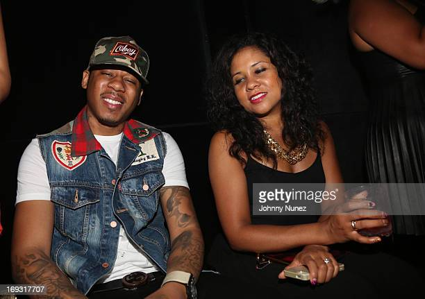 Vado and Angela Yee attend Nigel Talley's Birthday Blowout at Pink Elephant on May 22 2013 in New York City