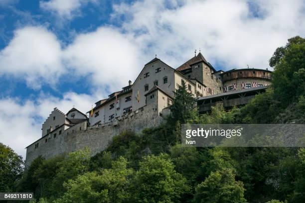 vaduz castle in liechtenstein - vaduz stock pictures, royalty-free photos & images