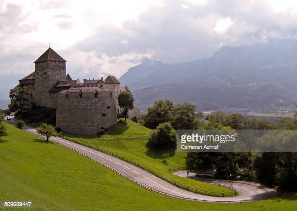 Vaduz Castle in Vaduz, Liechtenstein during a summer storm. Nestled in the Alps, between Switzerland and Austria.