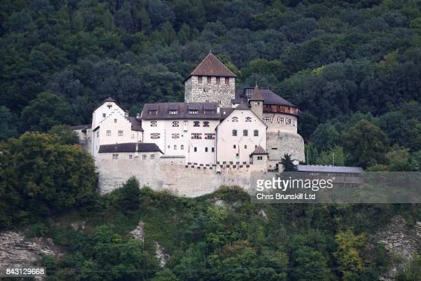 Vaduz Castle is seen ahead of the FIFA 2018 World Cup Qualifier between Liechtenstein and Spain at Rheinpark Stadion on September 5, 2017 in Vaduz,...