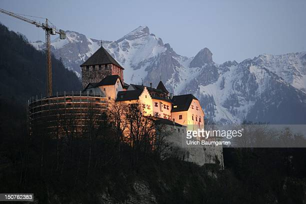 Vaduz Castle of the Prince of Liechtenstein, Die Burg der Fuersten zu Liechtenstein in Vaduz.