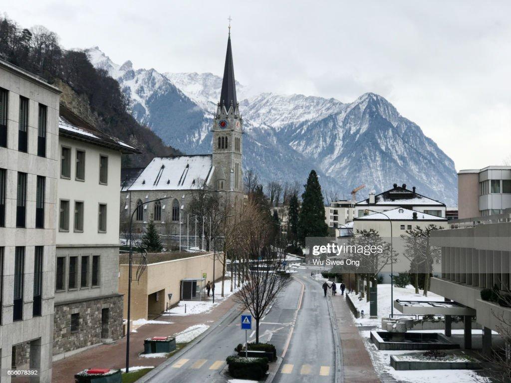 Vaduz City Centre : Stock Photo