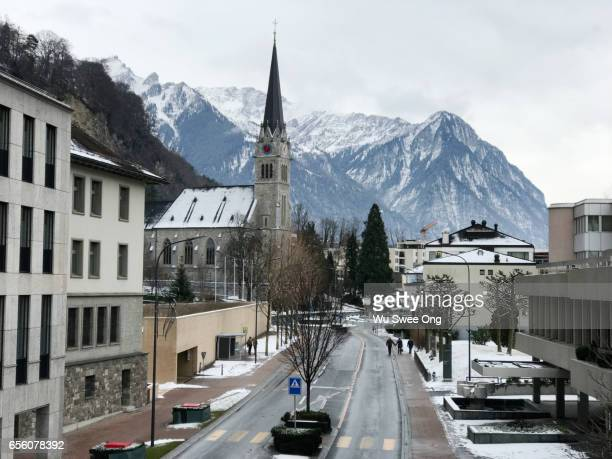 vaduz city centre - liechtenstein stock pictures, royalty-free photos & images