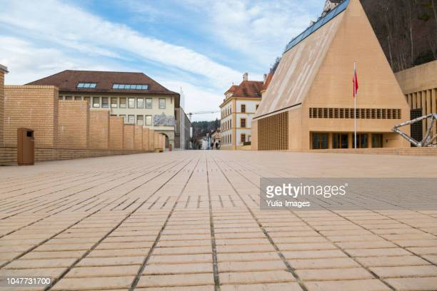 vaduz liechtenstein parliament building - liechtenstein stock pictures, royalty-free photos & images