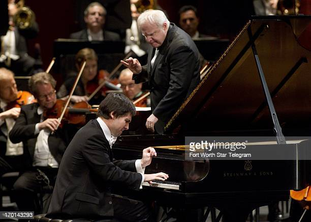 Vadym Kholodenko of the Ukraine performs with Leonard Slatkin and the Fort Worth Symphony Orchestra in the finals of the Van Cliburn International...