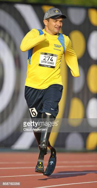 Vadym Svyrydenko of Team Ukraine competes in the 400m on Day Two of Athletics during the 2017 Invictus Games at York Lions Stadium on September 24...