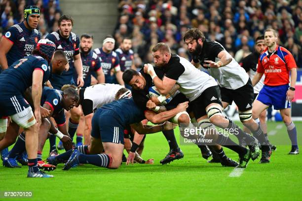 Vaea Fifita of New Zealand during the test match between France and New Zealand at Stade de France on November 11 2017 in Paris France