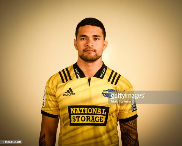 Vaea Fifita poses during a Hurricanes Super Rugby headshots session on February 01 2019 in Wellington New Zealand