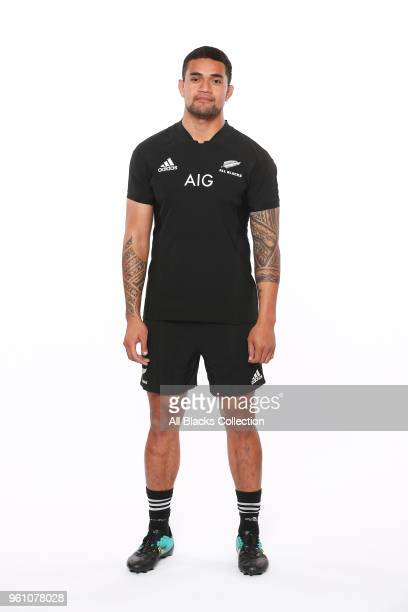 Vaea Fifita poses during a New Zealand All Blacks headshots session on May 21 2018 in Auckland New Zealand