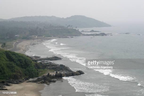vagator and anjuna beaches, goa, india - argenberg fotografías e imágenes de stock