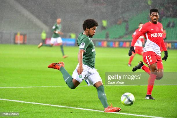 Vagner Dias Goncalves of St Etienne and Jesus Nascimento Jemerson of Monaco during the Ligue 1 match between AS SaintEtienne and AS Monaco at Stade...