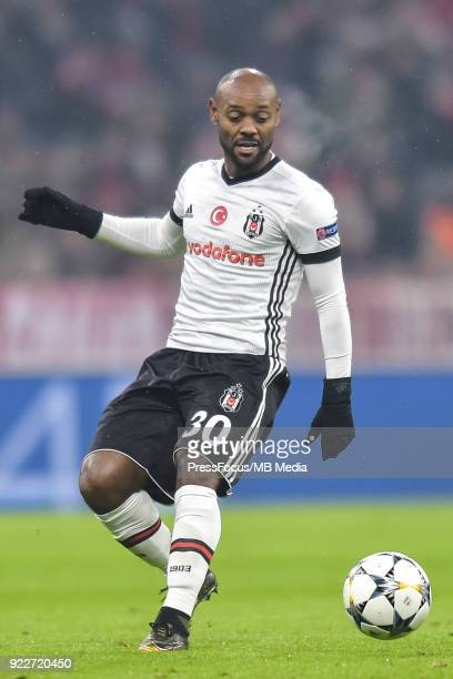 Vagner Love of Besiktas during the UEFA Champions League Round of 16 First Leg match between Bayern Muenchen and Besiktas at Allianz Arena on...