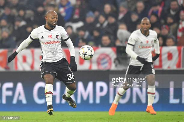 Vagner Love of Besiktas plays the ball during the UEFA Champions League Round of 16 First Leg match between Bayern Muenchen and Besiktas at Allianz...