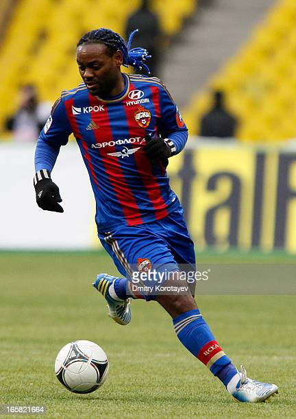 Vagner Love of PFC CSKA Moscow in action during the Russian Premier League match between PFC CSKA Moscow and FC Volga Nizhny Novgorod at the Luzhniki...