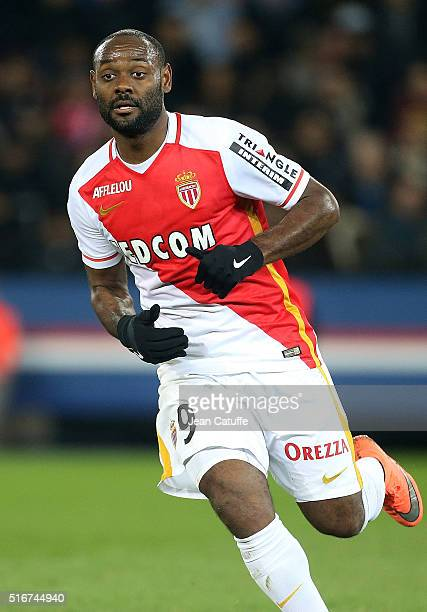 Vagner Silva de Souza aka Vagner Love of Monaco in action during the French Ligue 1 match between Paris SaintGermain v AS Monaco at Parc des Princes...