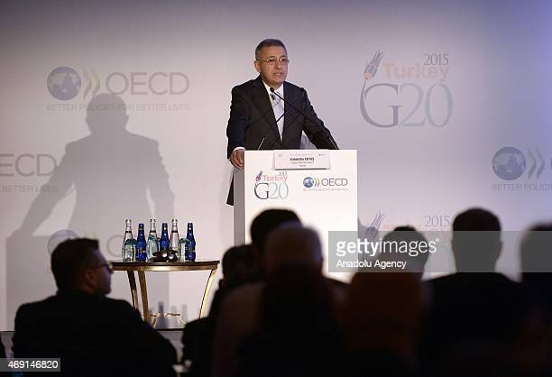 Vahdettin Ertas Chairman of the Capital Markets Board of Turkey speaks during the G20/OECD Corporate Governance Forum organized by the Capital...