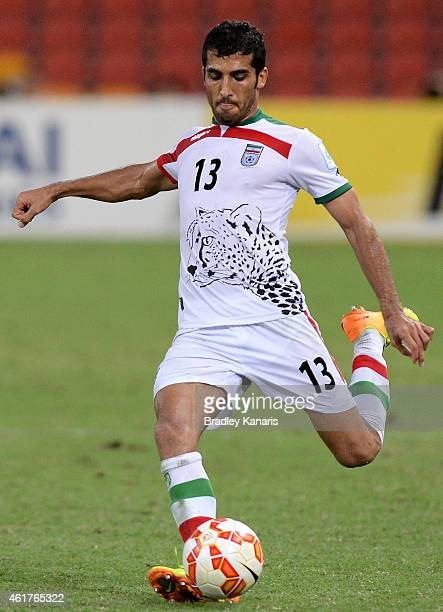 Vahid Amiri of Iran in action during the 2015 Asian Cup match between IR Iran and the UAE at Suncorp Stadium on January 19 2015 in Brisbane Australia