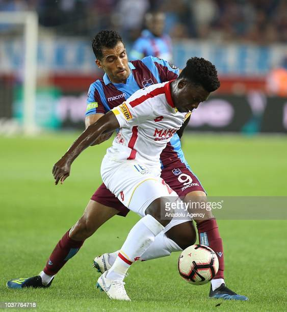 Vahid Amiri of Trabzonspor in action during Turkish Super Lig soccer match between Trabzonspor and Goztepe at Medical Park Stadium in Trabzon Turkey...