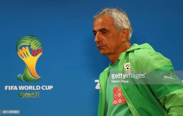 Vahid Halilhhodzic head coach of Algeria attends the Algeria national team press conference at Estadio BeiraRio at on June 29 2014 in Porto Alegre...