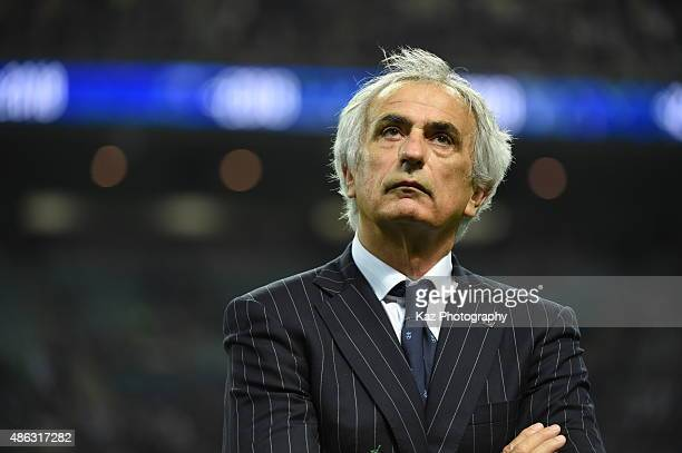 Vahid Halilhodzic coach of Japan after the match [action] during the 2018 FIFA World Cup Qualifier Round 2 Group E at Saitama Stadium on September 3...