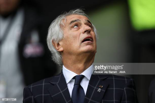 Vahid Halilhodzic head coach / manager of Japan during the international friendly match between Brazil and Japan at Stade PierreMauroy on November 10...