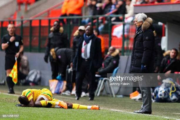 Vahid Halilhodzic head coach of Japan during the International friendly match between Japan and Mali on March 23 2018 in Liege Belgium