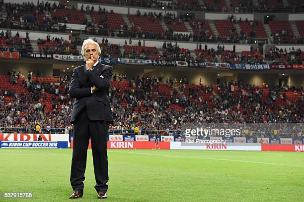 Vahid Halilhodzic head coach of Japan is seen after the international friendly match between Japan and Bulgaria at the Toyota Stadium on June 3 2016...
