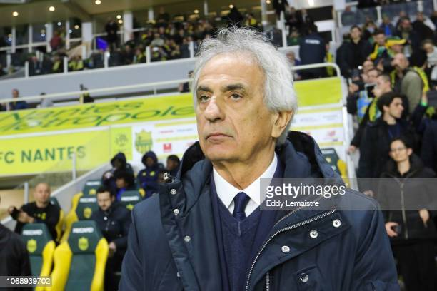 Vahid Halilhodzic Head coach of Nantes during the French Ligue 1 match between FC Nantes and Olympique de Marseille on December 5 2018 in Nantes...