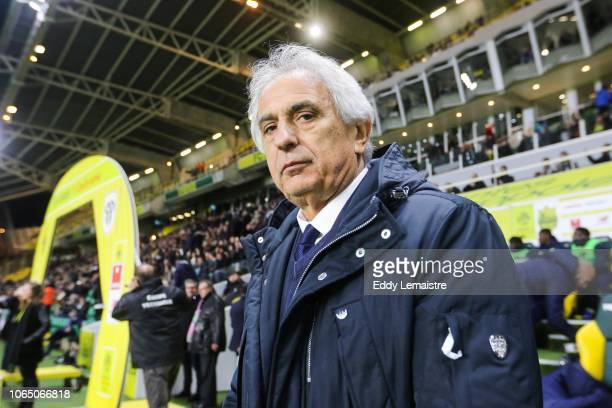 Vahid Halilhodzic , Head coach of Nantes during the Ligue 1 match between Nantes and Angers at Stade de la Beaujoire on November 24, 2018 in Nantes,...