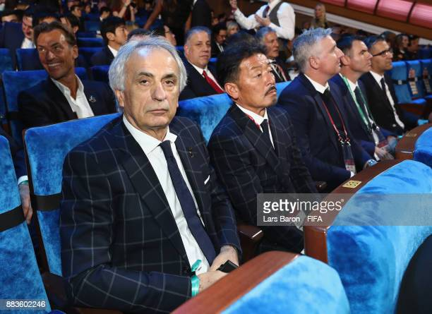 Vahid Halilhodzic Manager of Japan takes his seat during the Final Draw for the 2018 FIFA World Cup Russia at the State Kremlin Palace on December 1...