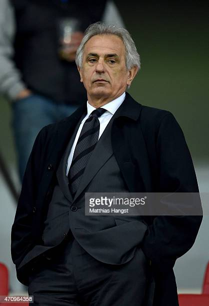 Vahid Halilhodzic manger of Japan national football team is pictured on the stands during the Bundesliga match between 1 FSV Mainz 05 and FC Schalke...
