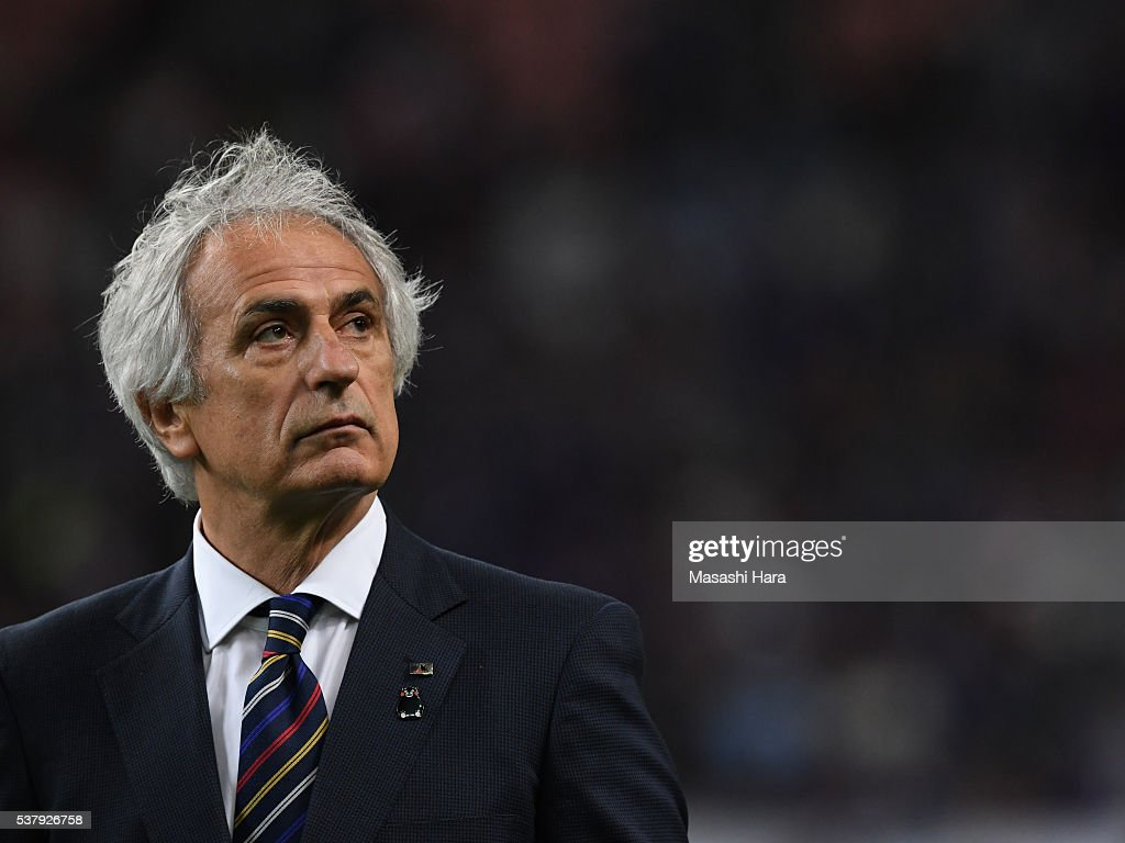 Vahid Halilhodzic,coach of Japan looks on after the international friendly match between Japan and Bulgaria at the Toyota Stadium on June 3, 2016 in Toyota, Aichi, Japan.