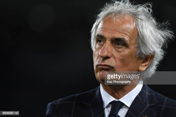Vahid Halilhodzic,head coach of Japan disappointedthe result during the international friendly match between Japan and Syria at Tokyo Stadium on June...