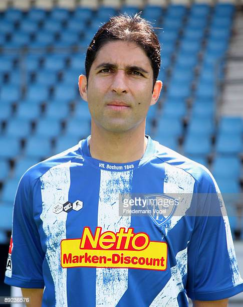 Vahid Hashemian poses during the VfL Bochum team presentation at the rewirpower stadium on July 24 2009 in Bochum Germany