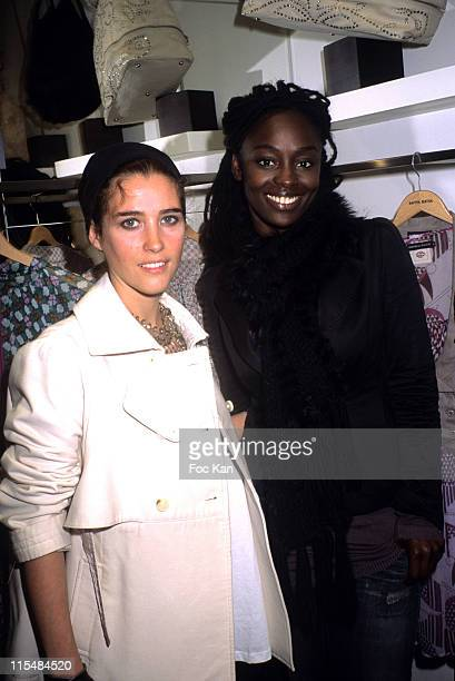 Vahina Giocante and Aissa Maiga during Antik Batik Shop Opening Cocktail Party at Antik Batik Shop 20 rue Mabillon in Paris France
