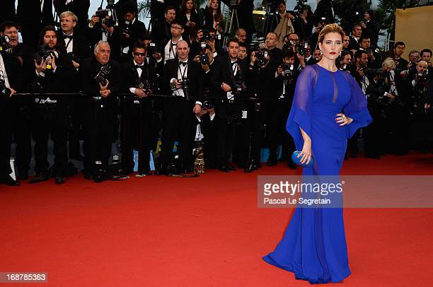 Vahina Giocante attends the Opening Ceremony and 'The Great Gatsby' Premiere during the 66th Annual Cannes Film Festival at the Theatre Lumiere on...