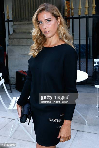 Vahina Giocante attends the 'Qeelin' high Jewellery Exhibition opening Cocktail 'Mogoaku in Paris' at Jardin du Palais Royal on June 30 2014 in Paris...