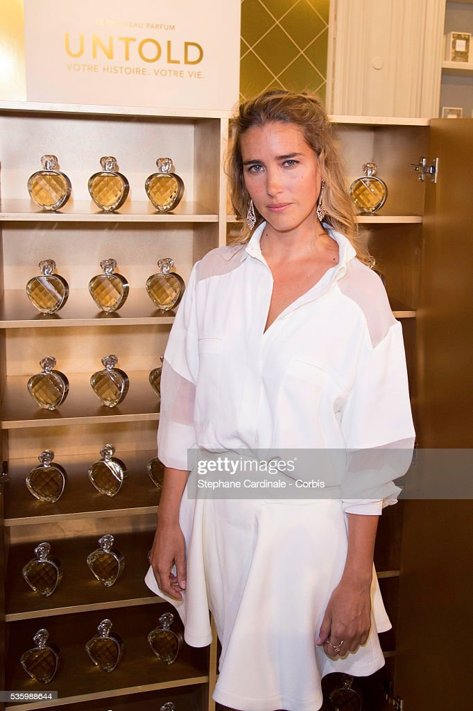 Vahina Giocante attends to the 'Untold' new perfume launch at Mona Bismarck's House, in Paris.
