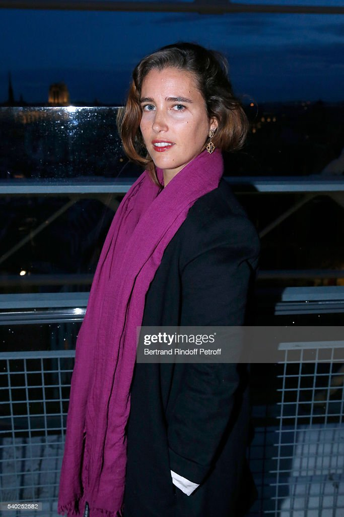 Vahina Giocante attends YSL Beauty launches the new Fragrance 'Mon Paris' at Cafe Le Georges on June 14, 2016 in Paris, France.